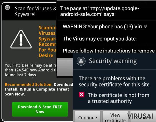 Android viruso nuotraukos