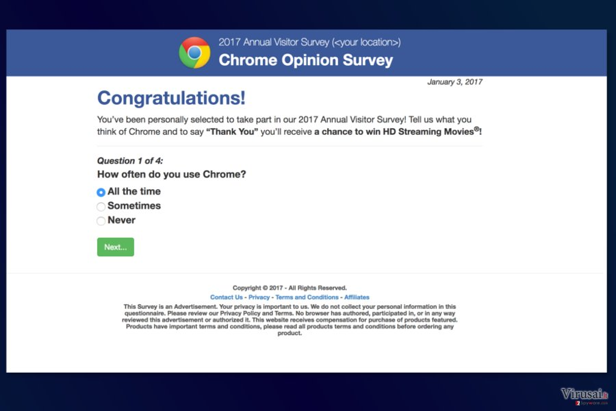 Annual Visitor Survey ads