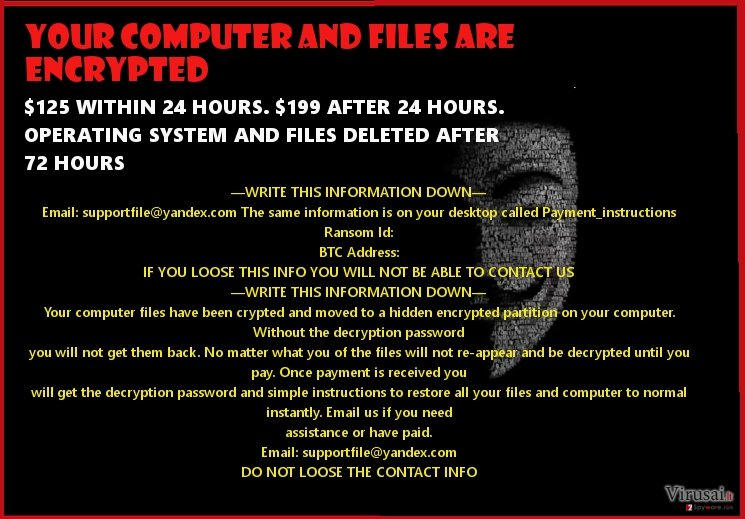 Anonymous ransomware virus