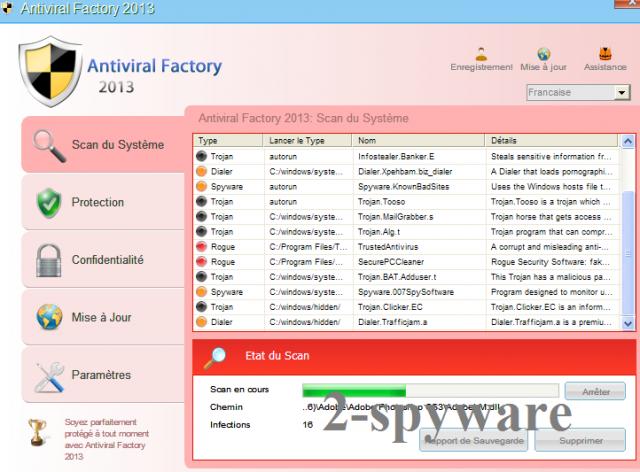 Antiviral Factory 2013 ekrano nuotrauka