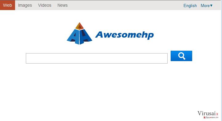 Awesome HP virusas ekrano nuotrauka