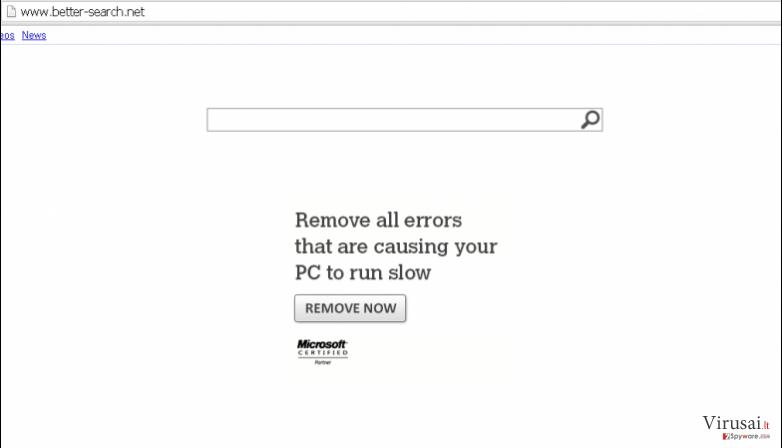 Better-Search.net virusas ekrano nuotrauka