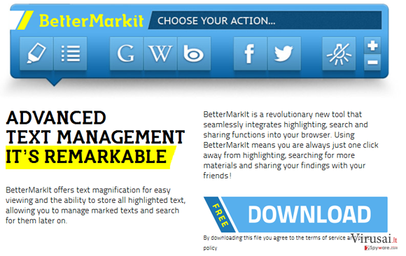 BetterMarkit reklamos ekrano nuotrauka