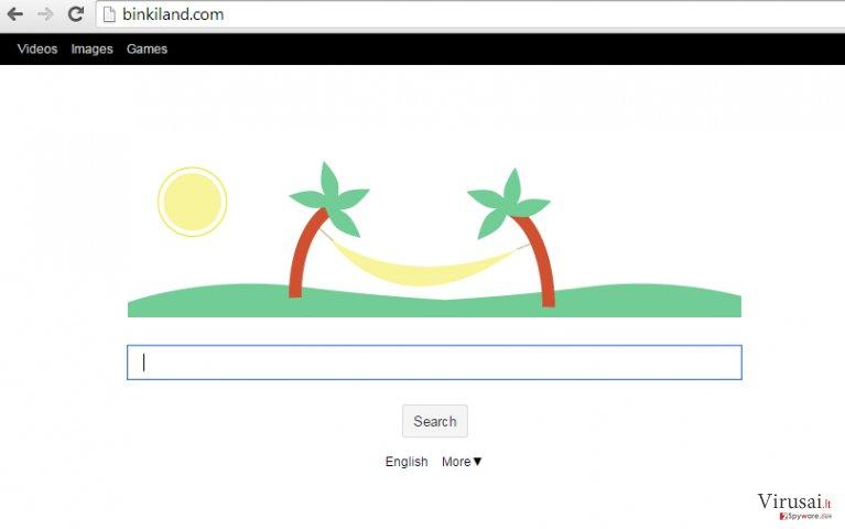 Binkiland Search ekrano nuotrauka