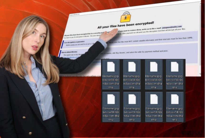 Blammo@cock.li virusas pateikia išpirkos reikalaujančią žinutę