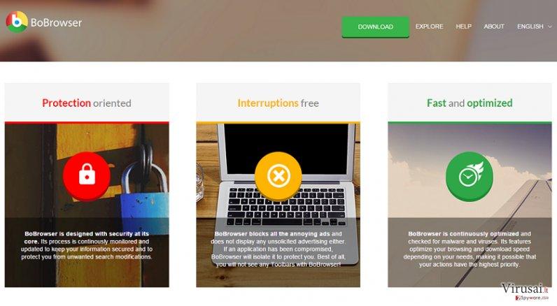 Bo-Browser ekrano nuotrauka