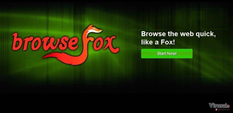 BrowseFox ekrano nuotrauka