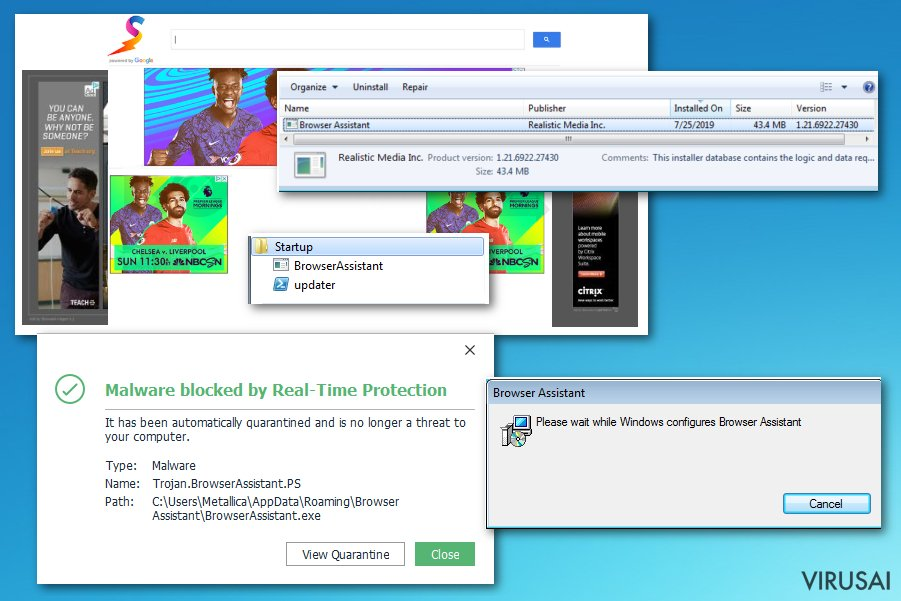 Browser Assistant paketas