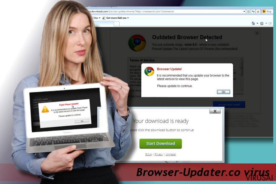Browser-Updater.co pop-up virusas ekrano nuotrauka
