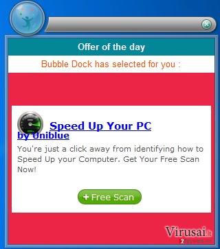 Reklamos ekrano nuotrauka
