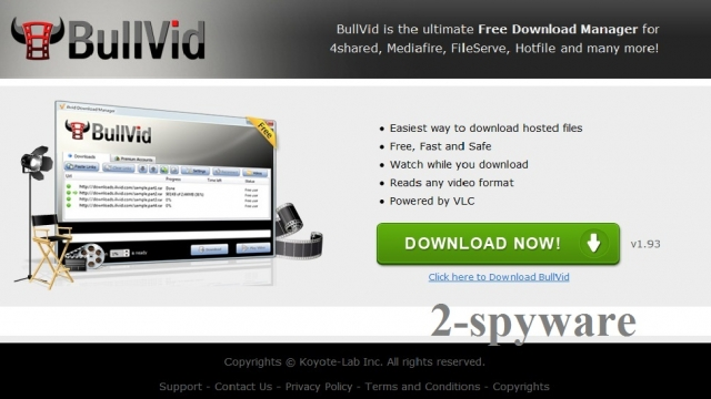 BullVid virus ekrano nuotrauka