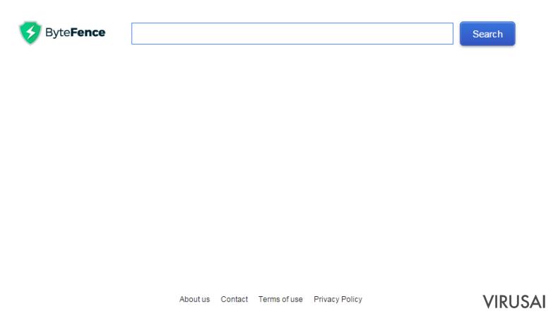 Search.bytefence.com nuotrauka