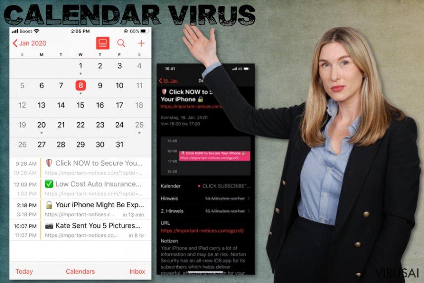 iPhone Kalendoriaus virusas