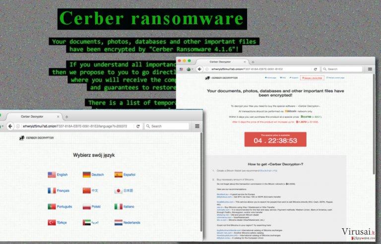 Cerber 4.1.6 virusas - naujoji Cerber versija