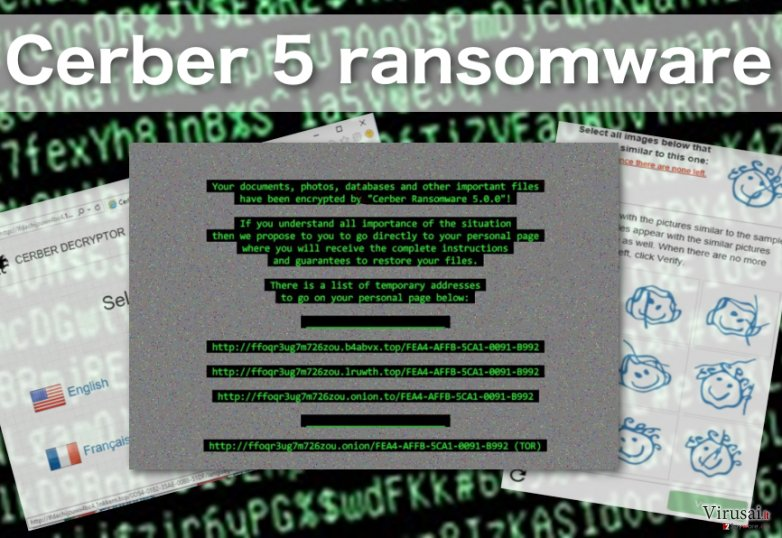 Cerber 5 virusas tęsia duomenų grobimą ir išpirkos reikalavimą
