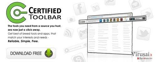 Certified Toolbar ekrano nuotrauka