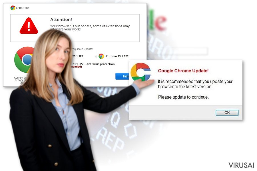 Chrome peradresavimo virusas