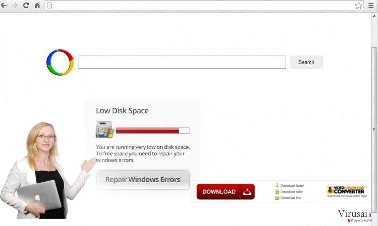 Chrome peradresavimo virusas ekrano nuotrauka