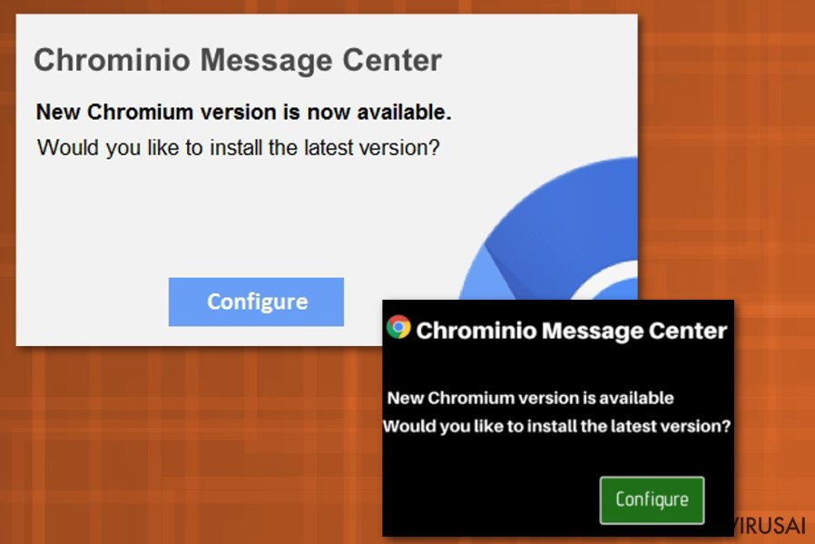 Chrominio Message Center virusas