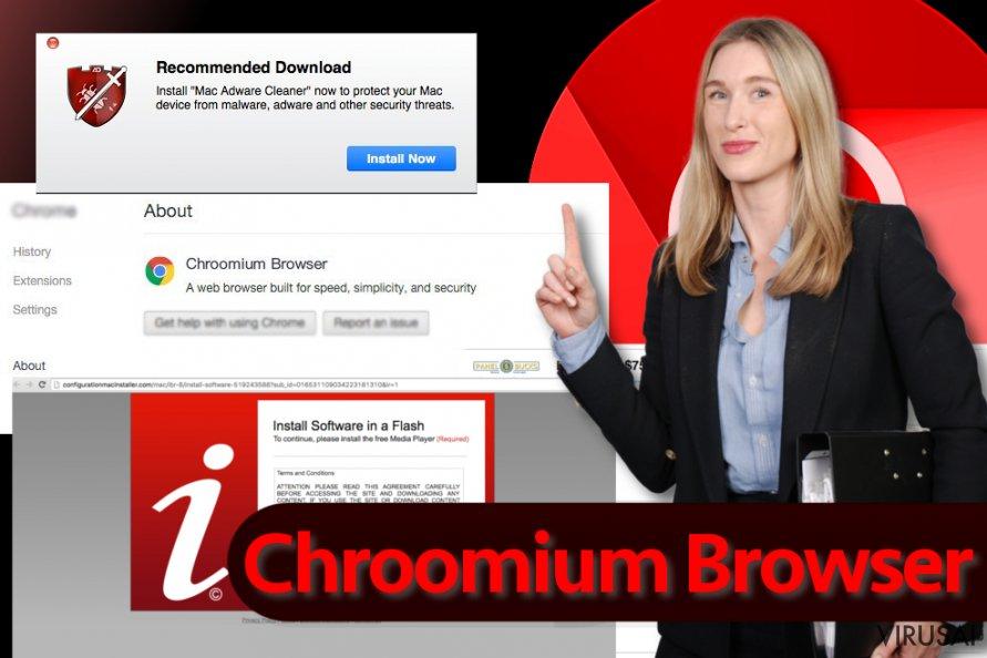 Chroomium Browser virusas ekrano nuotrauka