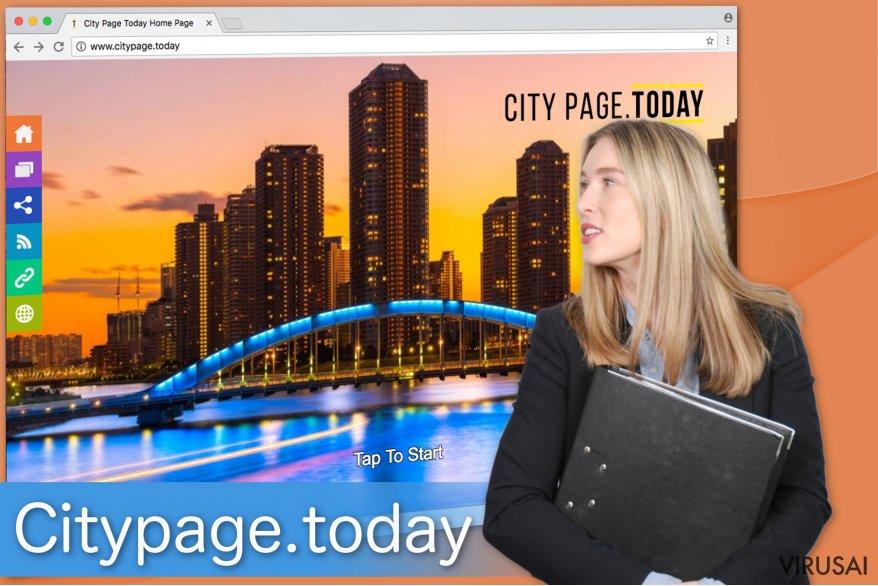 Citypage.today naršyklės užgrobėjas