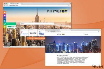 Citypage.today virusas