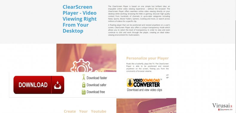 ClearScreen Player virus