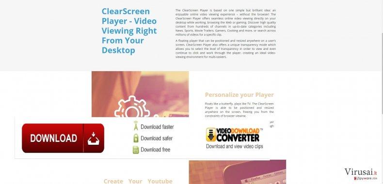 ClearScreen Player virus