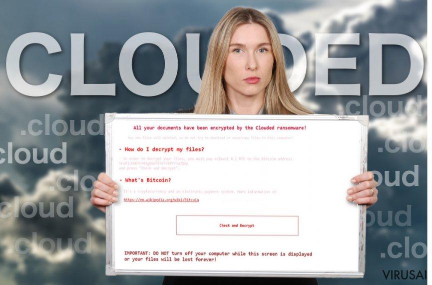 Clouded viruso rodomas pranešimas