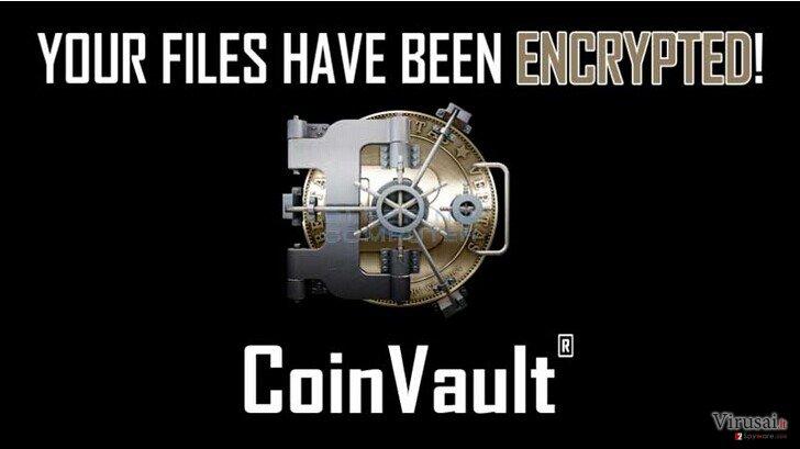 CoinVault virusas ekrano nuotrauka