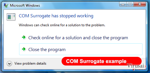 COM surrogate virus