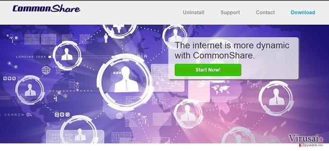 CommonShare reklamos ekrano nuotrauka