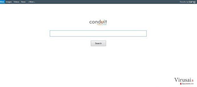 Conduit virusas ekrano nuotrauka