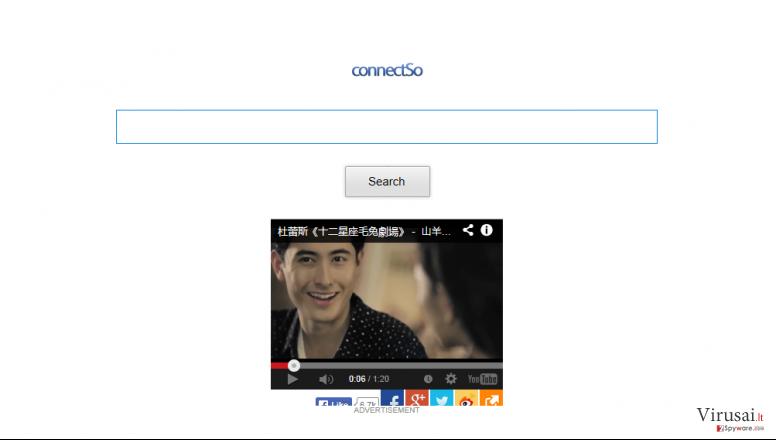 ConnectSo įrankių juosta ekrano nuotrauka