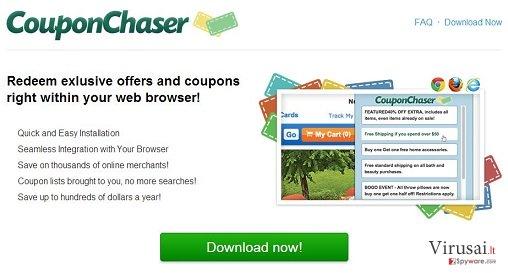 Coupon Chaser virusas ekrano nuotrauka