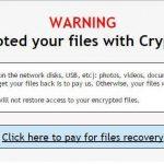 Crypt0L0cker virusas ekrano nuotrauka