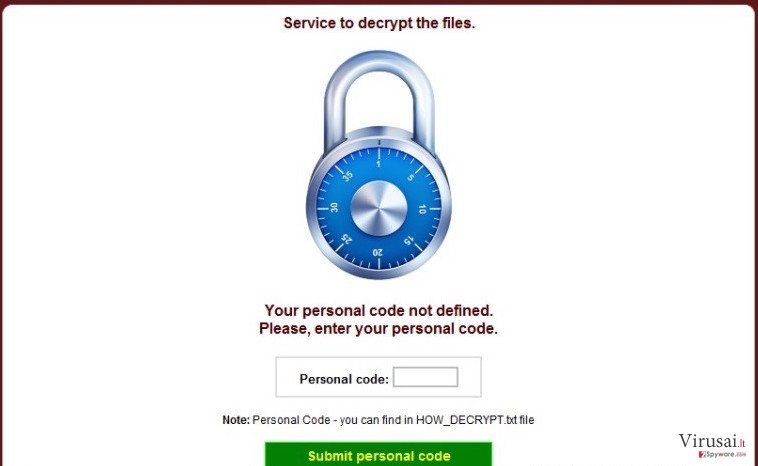 CryptoDefense ekrano nuotrauka