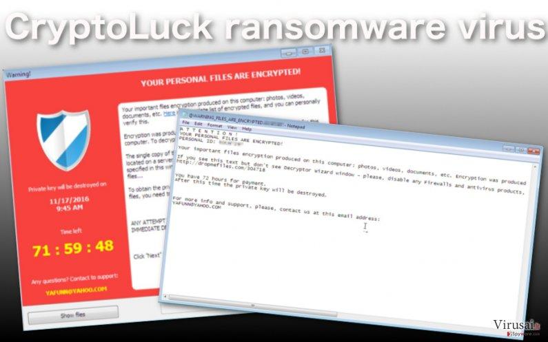 CryptoLuck virusas užkoduoja kompiuteryje esančius duomenis