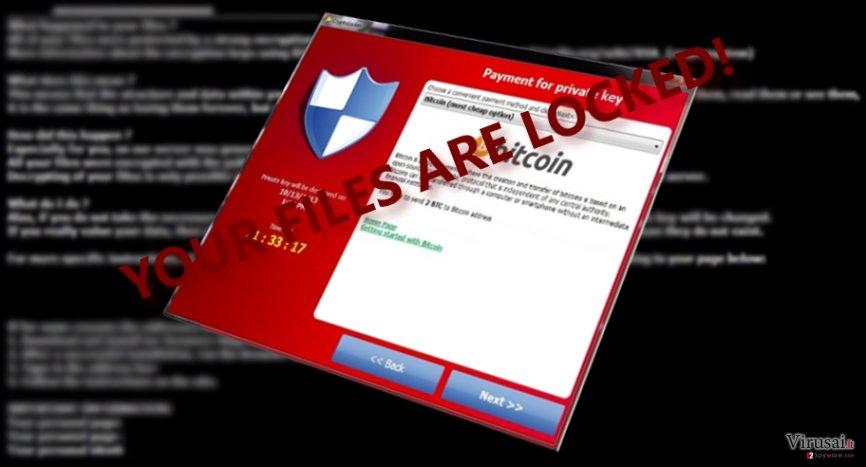 CryptoTorLocker virusas užkoduoja kompiuteryje esančius failus