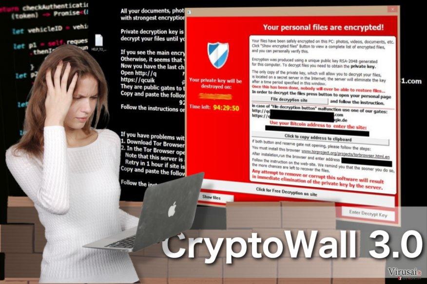 CryptoWall 3.0 virusas ekrano nuotrauka