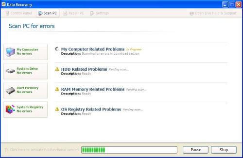 Data Recovery ekrano nuotrauka
