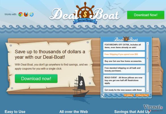 Deal Boat ekrano nuotrauka