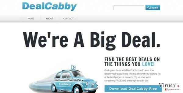 DealCabby virus ekrano nuotrauka