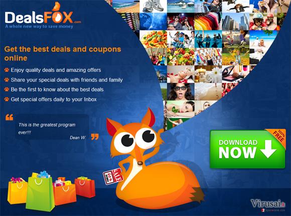 DealsFox virusas ekrano nuotrauka