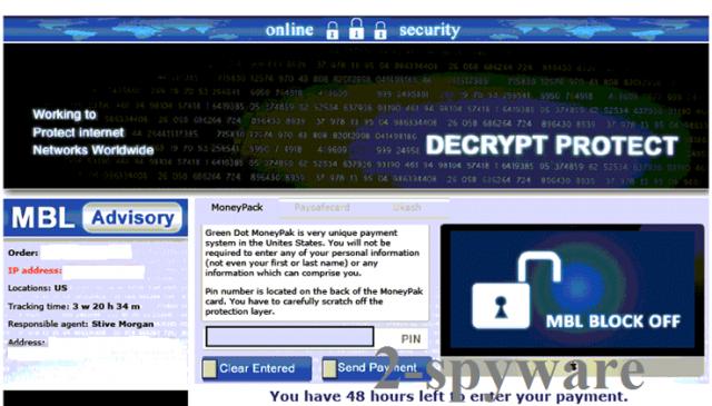 Decrypt Protect virus ekrano nuotrauka