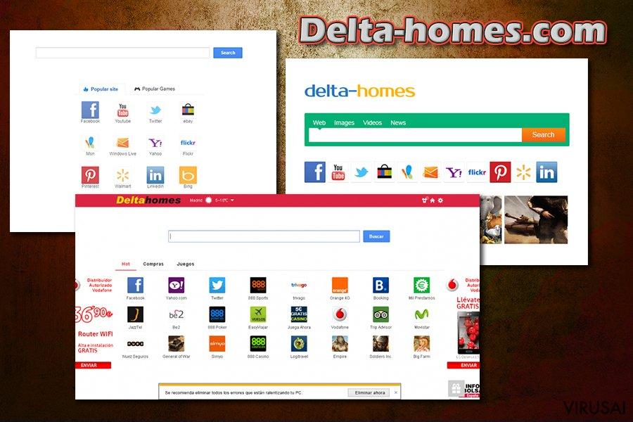 Delta-homes.com ekrano nuotrauka