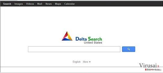 Delta Search virus ekrano nuotrauka