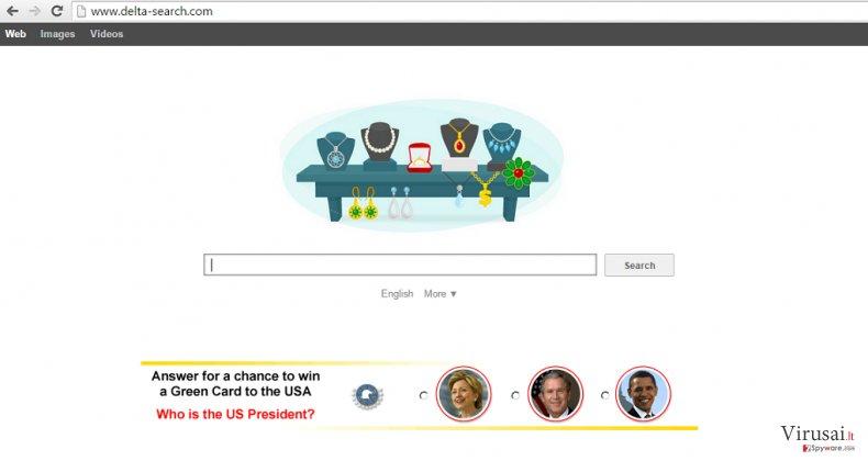 Delta įrankių juosta  ekrano nuotrauka