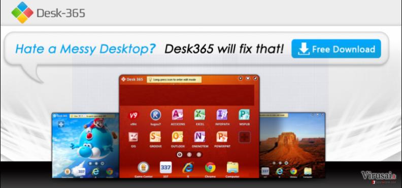 Desk 365 virusas ekrano nuotrauka