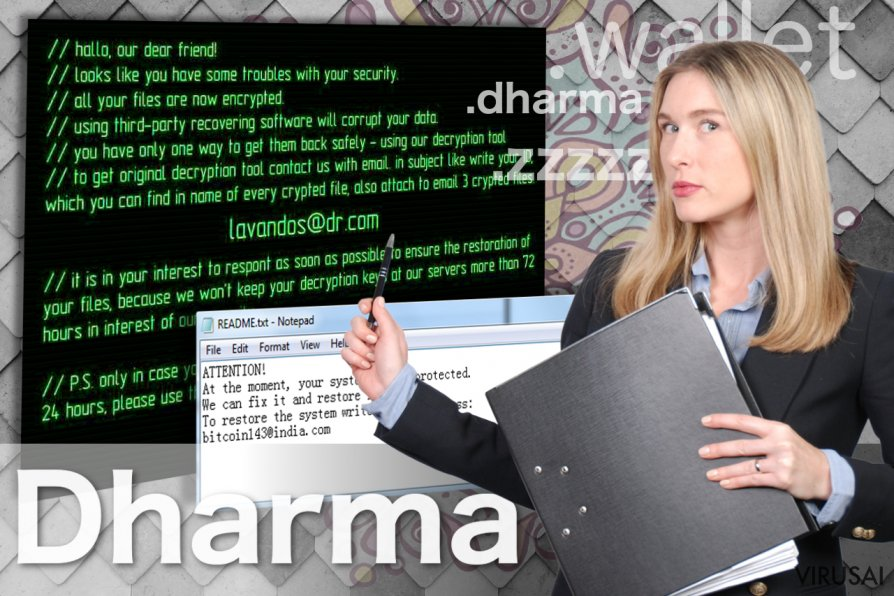 Dharma virusas ekrano nuotrauka